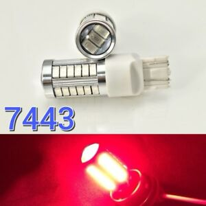 Front Turn Signal Parking Light 33 LED Bulb Red T20 7443 7444 B1 #12 For Toyota