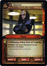 Star Trek CCG 0P74 Gowron Leader OT High Council Foil Card M/NM  extremely rare
