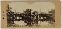 Germania Dresda Foto Stereo L53S1n3 Vintage Albumina c1865