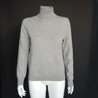 Uniqlo Classic Gray Turtleneck 100% Cashmere Sweater Womens size Medium / 455