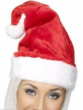 Women's Men's Deluxe Santa Hat Christmas Party Novelty Xmas Fun Sexy Velvet Feel
