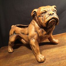 Vintage Bulldog Planter Ceramic Pottery Dog Figurine Large PRIORITY MAIL