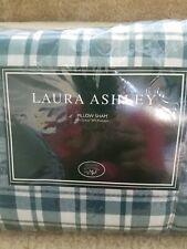 BRAMBLE Hampton Plaid vintage Laura Ashley shabby chic EURO pillow shams (2)