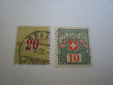 Schweiz  -  Postmarken 1908/10