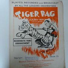 song sheet TIGER RAG piano solo , Harry Rag 1917