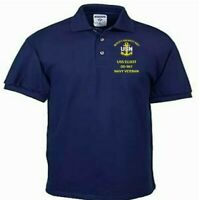 USS ELLIOT  DD-967  NAVY ANCHOR EMBROIDERED LIGHT WEIGHT POLO SHIRT