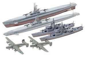 Tamiya 31903 1/700 US Submarine Gato Class & Japanese Chaser No.13 F/S w/Track#