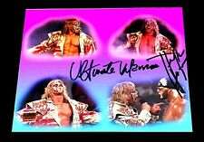 Wwe Ultimate Warrior Und Hulk Hogan Doppelt Unterzeichnet 8X10 Foto Mit Fest COA