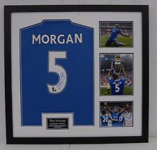 Wes Morgan Signed & Framed Shirt Leicester City F.C. AFTAL COA (A)
