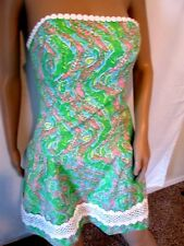 Cute Lined LILLY PULITZER Summer Dress*Green*Size 2*So adorable*Mint Condition*