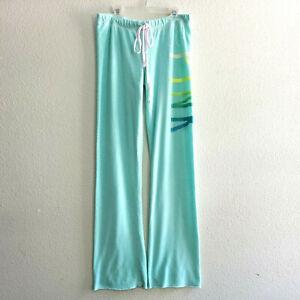 Victorias Secret PINK Cotton Lounge Sweatpants Pajama Pants Green,sz.XS