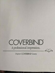 New Coverbind Black Clear Linen Thermal Covers All Sizes