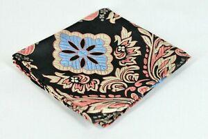 Lord R Colton Masterworks Sanliurfa Gold & Blue Floral Pocket Square Silk New