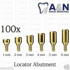 100 Locator Titanium Abutment Dental Implant Dentist Internal Hex Lab  Free ship