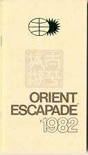 1982 Orient Escapade Tour Book, 50 p. Tips on Asian Cities, Rules