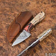 5529 | Black Buck's Handmade High Carbon Steel FULLTANG Skinner Knife |W/Sheath