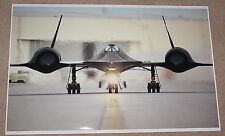SR-71 BLACKBIRD SUPERSONIC MILITARY JET AT TAKEOFF POSTER 23x36 HI RES