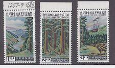 Republic of China  1960  Scott  # 1267-1269  5th World Forestry Congress MNH