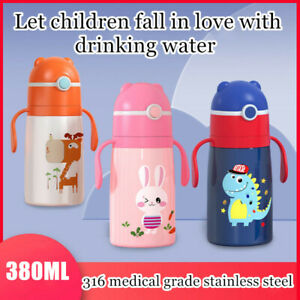 Flask for Kids Children Sippy Cups Student Thermos Vacuum Insulated with Straw