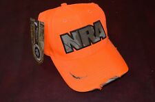 NWT NRA Logo Cap Hat Distressed Look Orange Realtree Camo One Size Adult Hunt