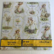 Vintage American Greetings Holly Hobbie Gift Wrap Happy Birthday 2 Sheets Sealed