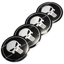 4PCS 56.5mm Punisher Skull Aluminum Auto Wheel Center Hub Cap Emblems Stickers