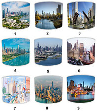 City Of Chicago Lampshades, Ideal To Match Chicago City Wall Decals & Stickers