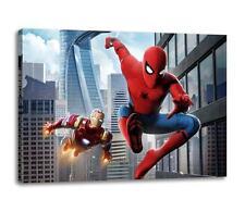 "Spiderman & Iron Man Homecoming Leinen Infinity Krieg Poster "" 30x "" 20 Leinen"