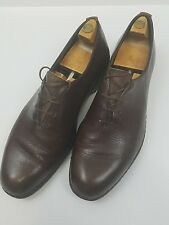 Frank Brothers Shoes Vintage Pebbled Brown Leather Oxfords New York Size 9D/B