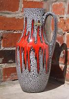 Scheurich Keramik Design Vase 407-35 Fat Lava 60s Vintage Pottery Midcentury WGP