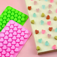 Silicone 55 Hearts Chocolate Mould Candy Cookies Baking Mold Wax Ice Cube Tray