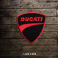 Ducati Motor Cycle Brand Logo Racing Embroidered Iron on Patch Sew on Badge