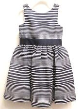 NEW Gymboree Girls Dress Easter Navy Blue White Striped Party Holiday Size 4