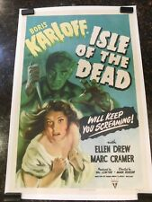 "ISLE OF THE DEAD Original Movie Poster, 27"" x 41"", C8.5 Very Fine to Near Mint"