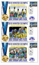 SWEDEN 2010 OLYMPIC C/C SKI RELAY SET OF GOLD COVERS