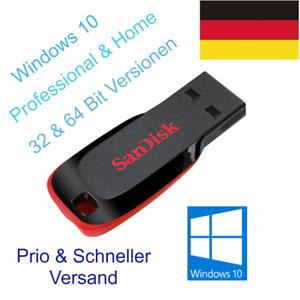 ✅ Windows 10 Pro Home 32 & 64 Betriebssystem USB Boot Stick PRIO Versand