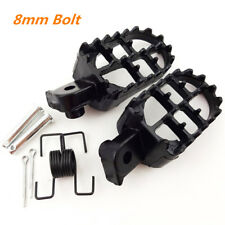 Aluminum Motorcycle Foot Pegs Footrest Black For Honda CR CRF Yamaha Kawasaki