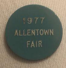 Plastic Token 1977 Allentown Fair