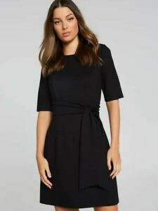 Portmans Midtown City Ponte Black Dress - Large 12 - Never Worn!