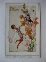 Vintage 1936 The Snapdragon Fairies Postcard by Margaret W. Tarrant