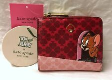 Kate Spade New York  X Tom & Jerry Small Bifold Wallet Ltd.Ed. PWRU7742 RED NWT