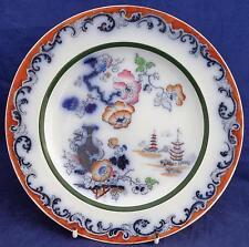 Antique Victorian Ashworth Ironstone Plate Imari Palette Flow Blue c 1865