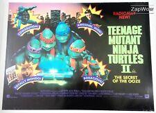 TEENAGE MUTANT NINJA TURTLES 2 1991 Secret of Ooze UK Quad Original Movie Poster