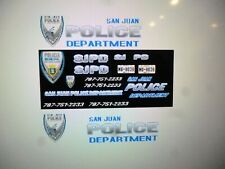 San Juan Puerto Rico Police  Vehicle  Decals 1:64  Custom   two for one money