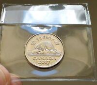 2017 Canada 5 Cents Beaver Nickel - From BU Roll - Unreleased! #coinsofcanada