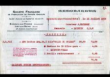 EXIDEUIL-sur-VIENNE (16) USINE de PAPIERS Ondulés / COLIS DU SOLDAT en 1918