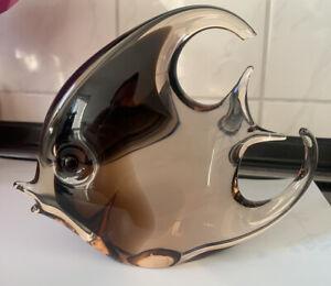 Seltener Designer Glasfisch vermutlich Livio Seguso Murano um 1970 Scalar Fisch