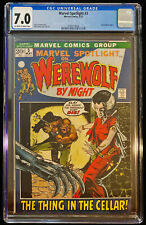 1972 Marvel Spotlight #3 CGC 7.0 Off White to White Pages Werewolf By Night