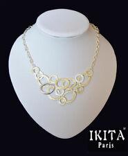 Luxus Halskette Kette Collier Metall Versilbert Ikita Paris Emaille Vergoldet