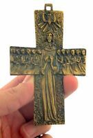 Jesus Christ Crucifix 4 1/8 Inch Bronze Tone Apostles Cross for Clergy Vestment